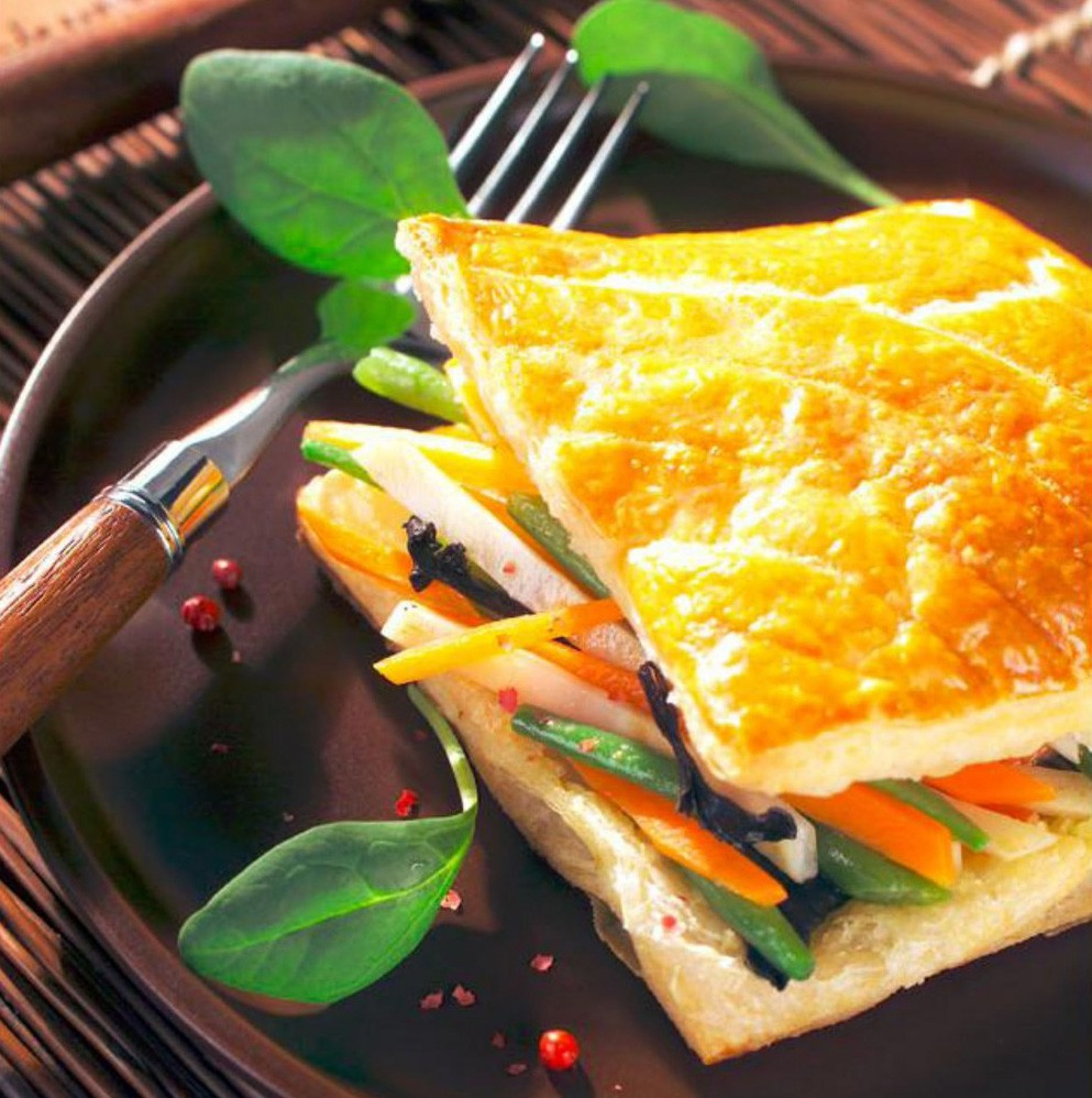 Vegetables & Wild Mushrooms In Puff Pastry