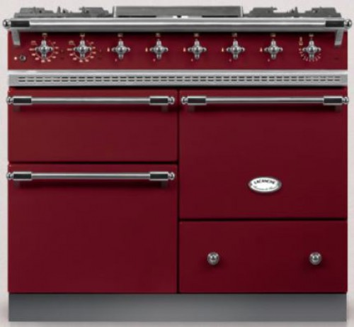 100cm Classic Macon in Burgundry Red/Chrome