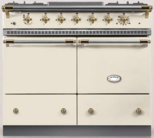 100cm Classic Cluny in Ivory/Brass