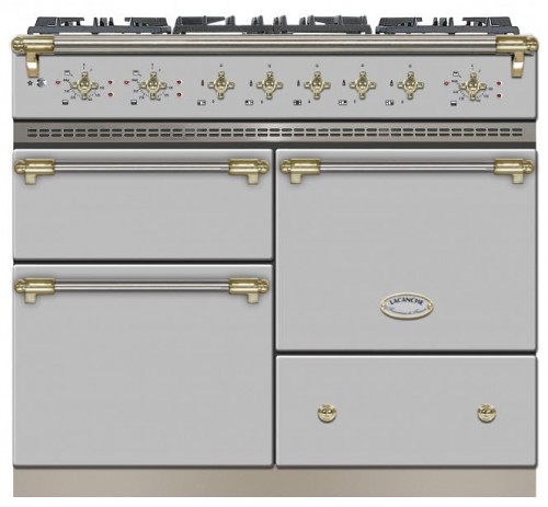 100cm Classic Macon in Stainless Steel/Brass Trim