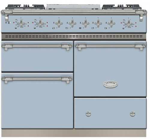 100cm Classic Macon in Delft Blue/Brushed Stainless Steel