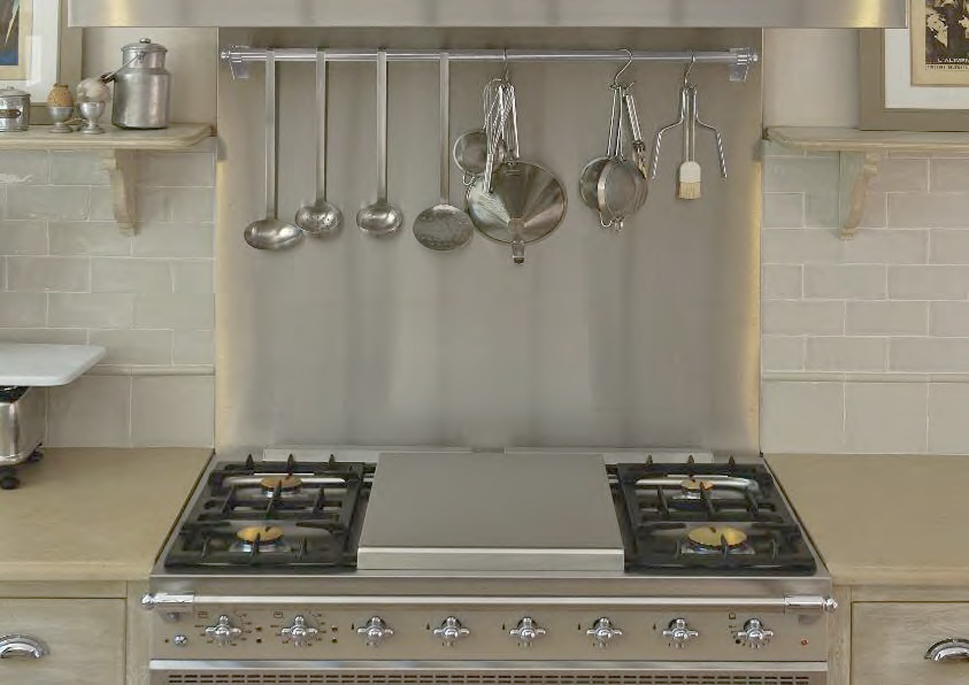 Traditional Hob Cover Stainless Steel Lacanche